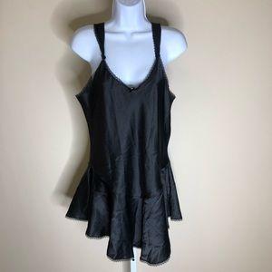 VINTAGE UC Undercoverwear Black Teddy (L)